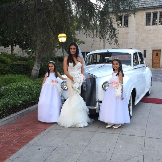 Bride with kids