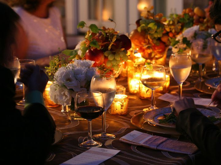 Tmx 1425481793459 Dinner Service   Tablescape With Floral And Fruit Naperville, IL wedding catering