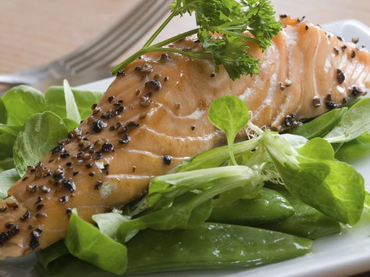 Tmx 1425482004651 Salmon Entree With Greens Naperville, IL wedding catering