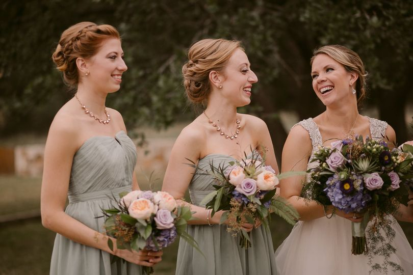 Three gorgeous bouquets with various colors of Juliet garden roses