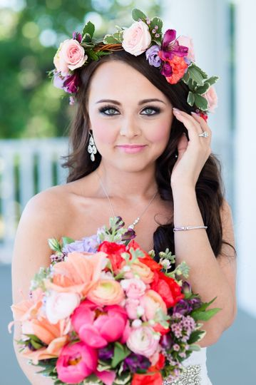 Hair & Makeup by Magan Nicole Beauty  Flowers by Lilium in Colleyville, Texas  Photo by: Rebecca...