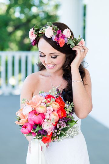 Hair & Makeup by Magan Nicole Beauty  Flowers: Lilium  Photo: Ellison Photography