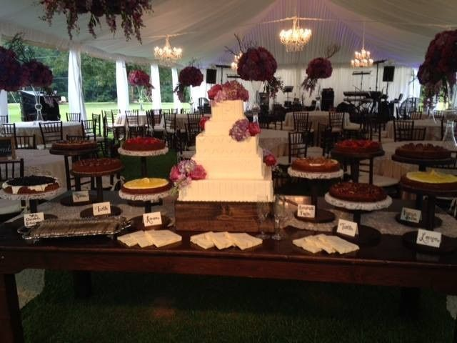 Wedding cake with a variety of cheesecakes
