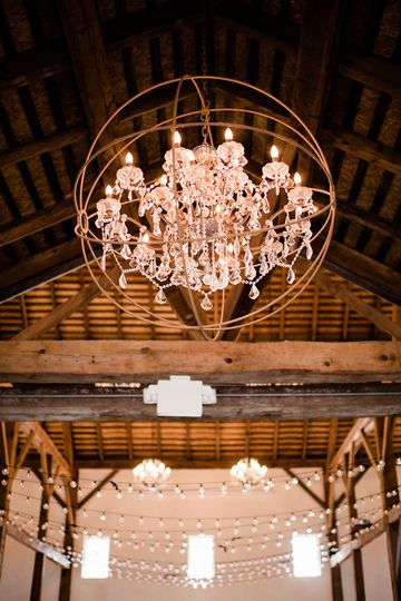 Our beautiful chandelier