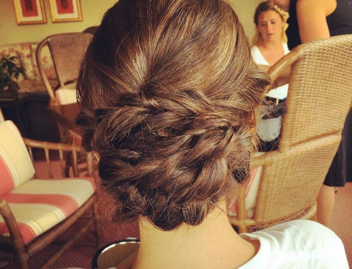 Bridal hair style braided