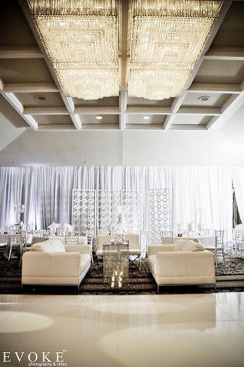 ballroom in white
