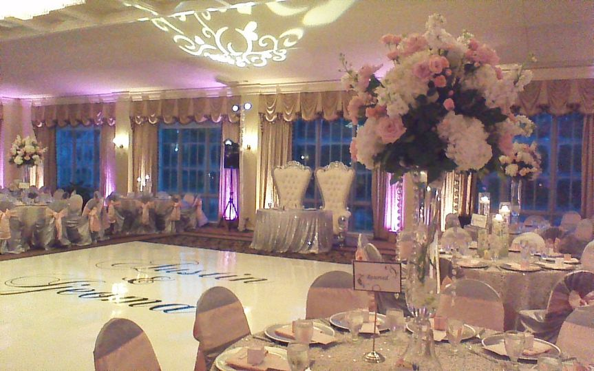 ballroom silver pink