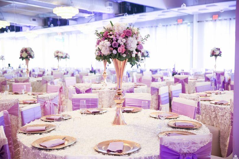 Banquet Setup with Fresh Flows