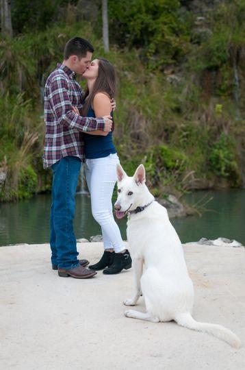 Couple anddog