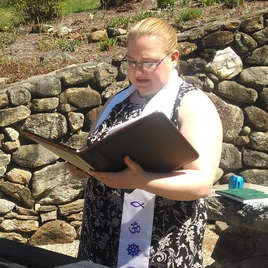 Rev. Allyson preaches at Cathedral of the Pines