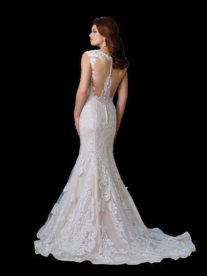 White long trail dress