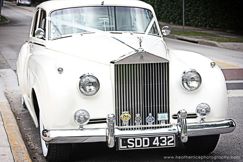 Grill of the wedding car