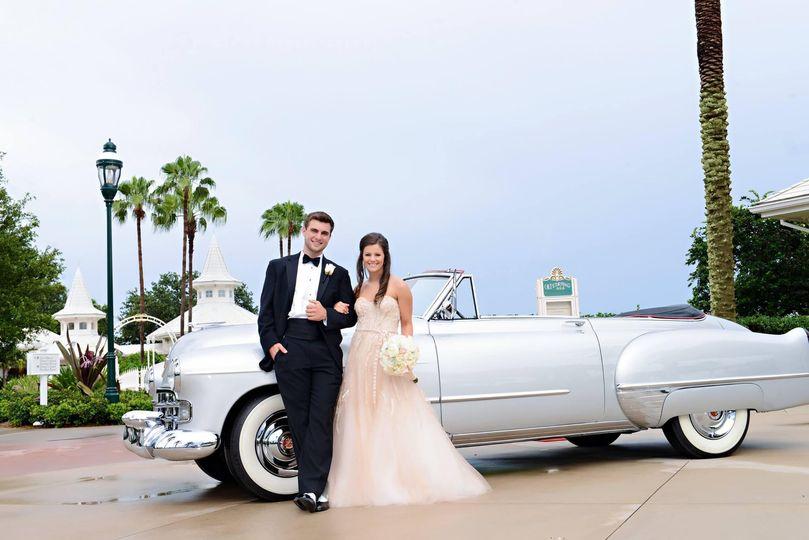WDW VIP Wedding '48 Cadillac