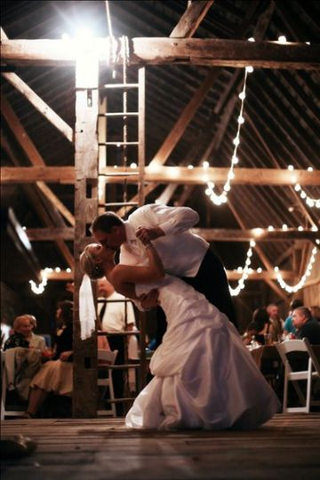 Dancing in the barn at Willow Pond B & B and Events.