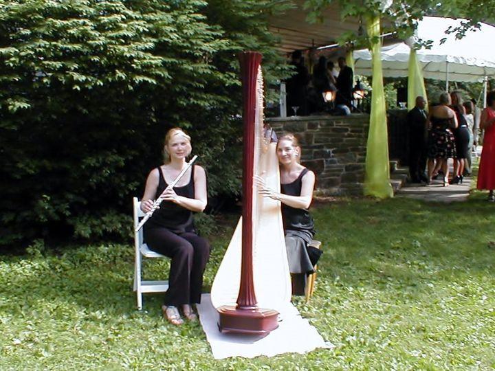 Tmx 1473650218883 Harp Flute Outdoor Wedding Princeton wedding ceremonymusic