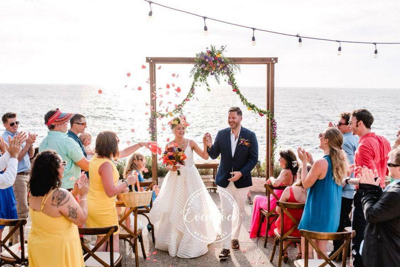 Boho ceremony by the sea