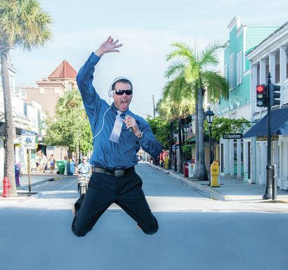 "Photo shoot for website, Duval Street , Key West, early morning,... Yay ! Got a lot of ""likes"" on..."