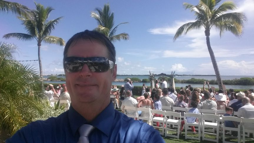 Selfie at Hawks Cay Resort, Florida Keys ,  during Ceremony. I try not to take any pics during...