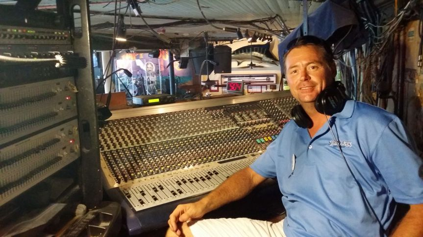 At home in the Sound Engineer booth at Sloppy Joies Bar, Key West , Florida.  I was the...
