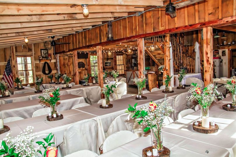 Indoor reception. Photo by Crooked River Farm Photography LLC.