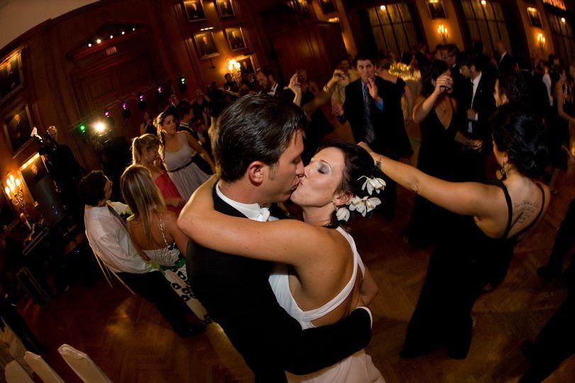 Dancing and kissing