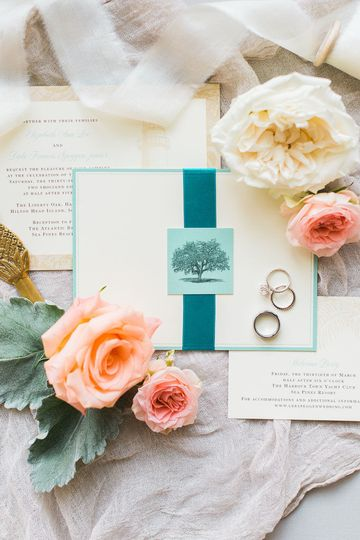 Wedding Celebration Invitation - Pretty Papers - The Village at Wexford. Photo by Kim Branagan