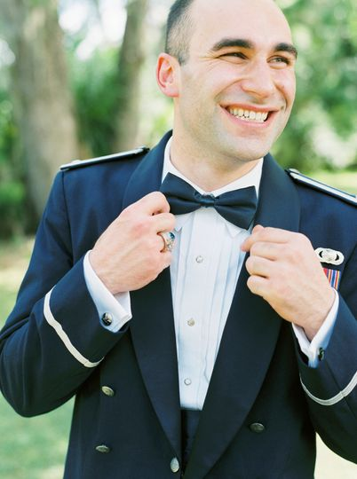 Looking dapper in Air Force uniform! Photo by Jessica Gold Photography