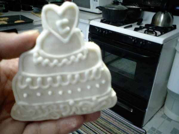 Wedding cake sugar cookie