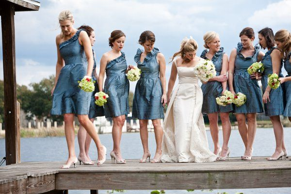 A Bella Bride & her maids in LulaKate by Bella Bridesmaid of Jackson, MS! Rob Ingram Photography