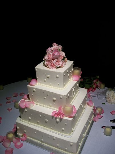 Four tier square cake