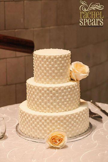 Three tier beaded cake