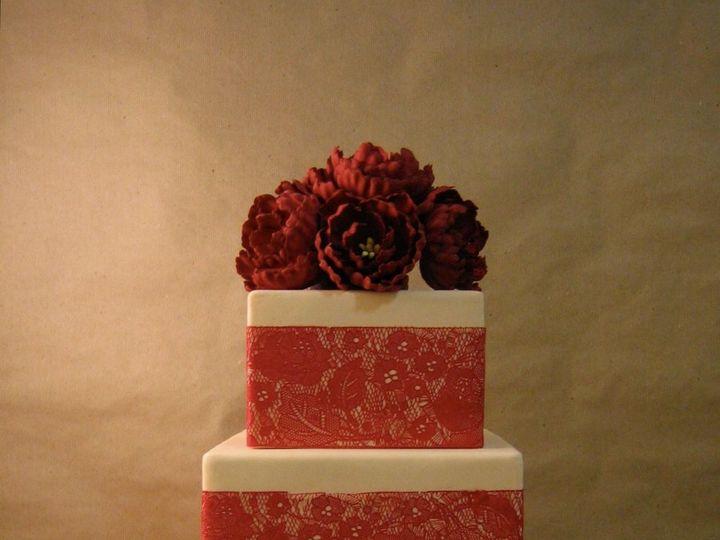 Tmx 1340336471119 Redpeonycake Brooklyn wedding cake