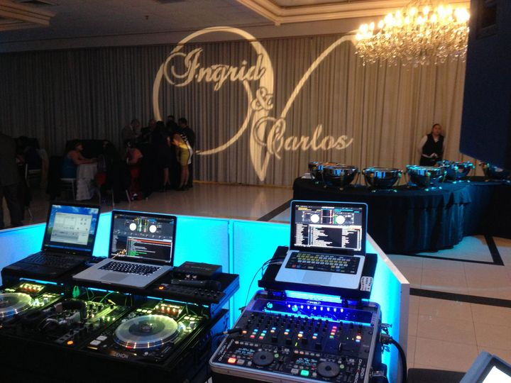 Dj Equipment plus Back up system and Gobo projection