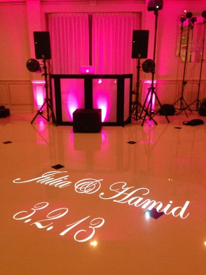 Basic Dj Set up with Gobo Projection