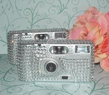 """Add a little extra """"bling"""" to your reception tables with these rhinestone disposable wedding..."""