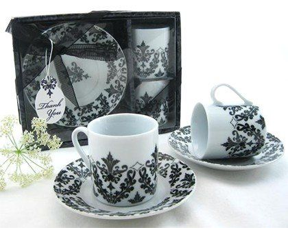 Damask Espresso Cup Sets. See our entire damask offering here: http://goo.gl/fSGys