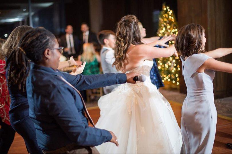 Dj teaching line dances