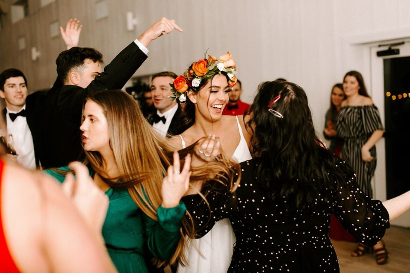 Bride dancing!