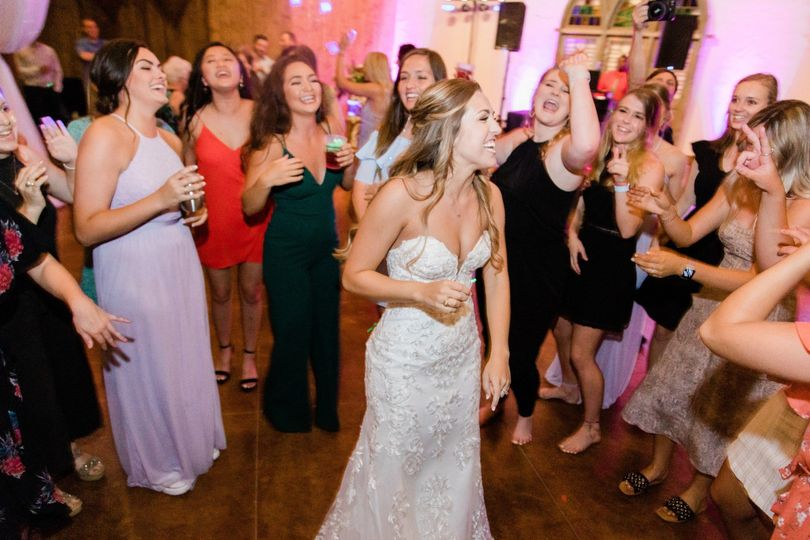 Bride in a dancing circle!