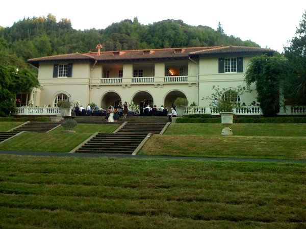 View of the Villa from the Great Lawn. Villa Montalvo, built in 1912 as the summer home of Senator...