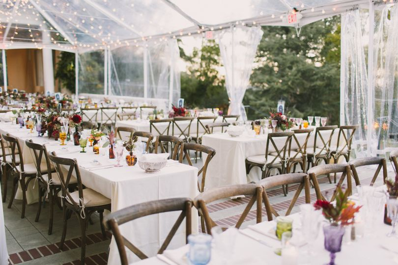 Fall tented reception