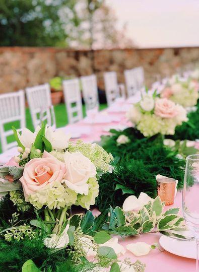 Floral Garland on estate table