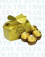Ferrero Rocher Chocolates in a Gold Box with your design imprinted on it.