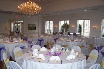 Chair covers with sashes and linen