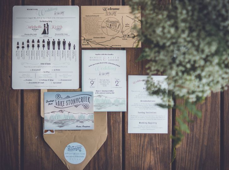 Lake House Wedding Invitation Suite