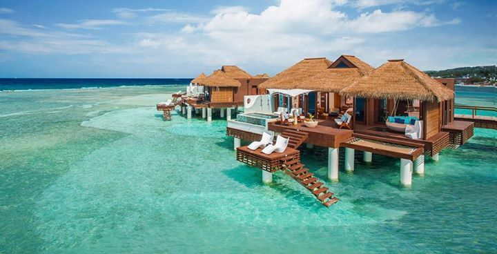 Over Water bungalows in Jamaica, St Lucia