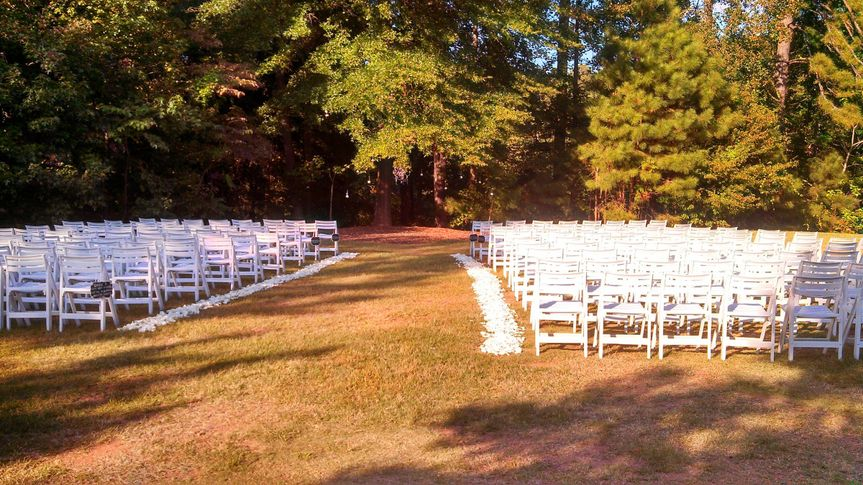 Another example of a ceremony set-up on the Meadow