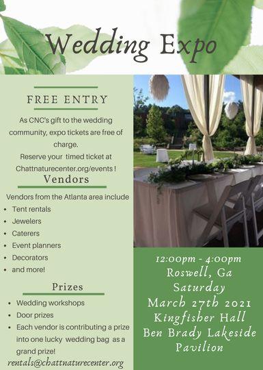 CNC Wedding Expo 3/27/21