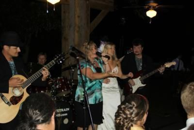The bride with the Drivetrain band