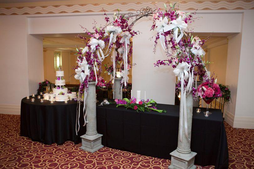 Creative wedding arbor